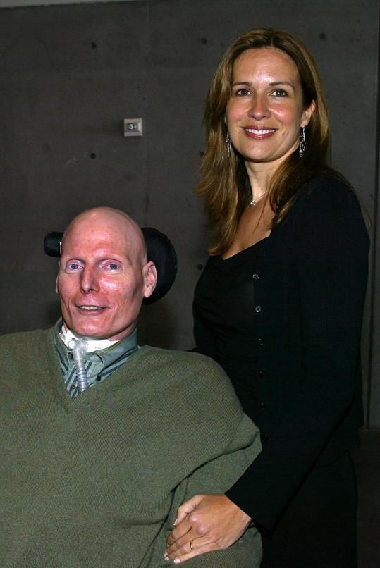 Christopher Reeve s manželkou Danou, která zemřela jen dva roky po jeho odchodu.