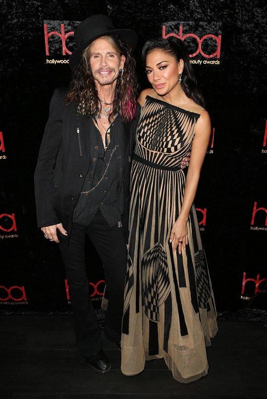 Fotku s rockovou legendou si nechala udělat i zpěvačka Nicole Scherzinger.