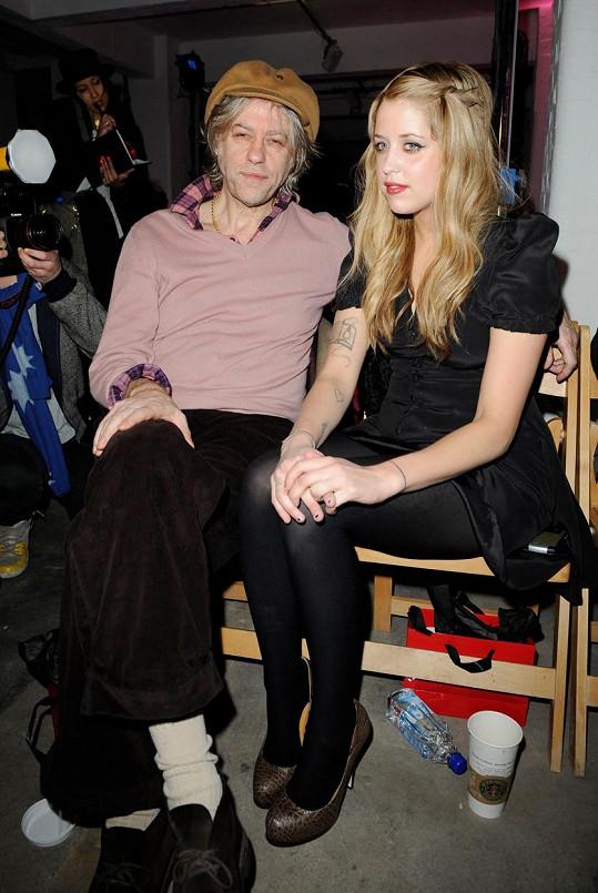 Geldof s dcerou Peaches na archivní fotce