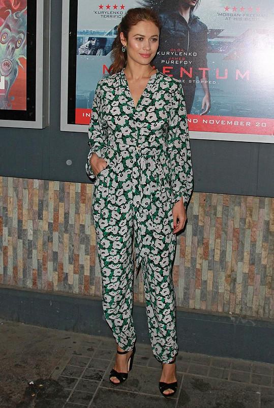 Na premiéře filmu Momentum Olga tajila, že se dočkala syna.