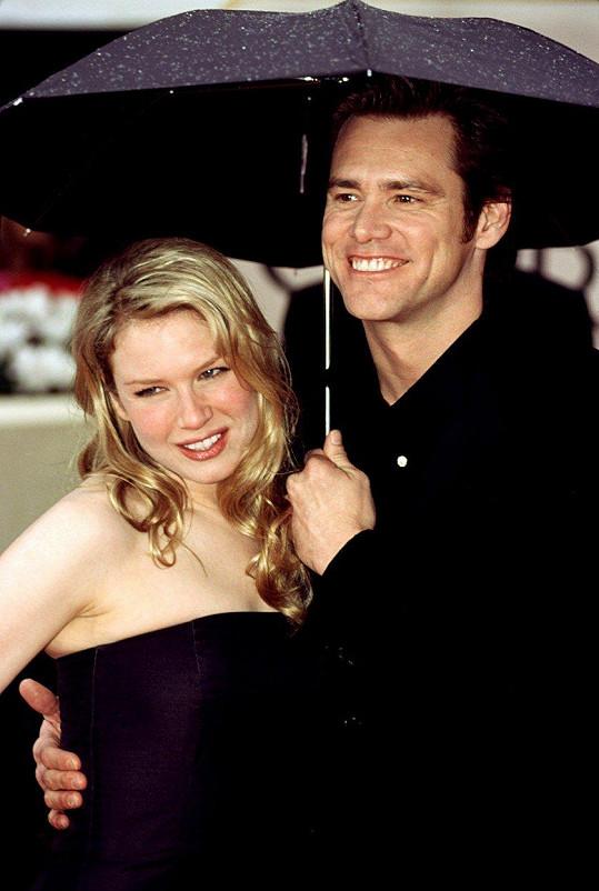 S Jimem Carreym byla i rok zasnoubená, seznámili se na natáčení filmu Já, mé druhé já a Irena.