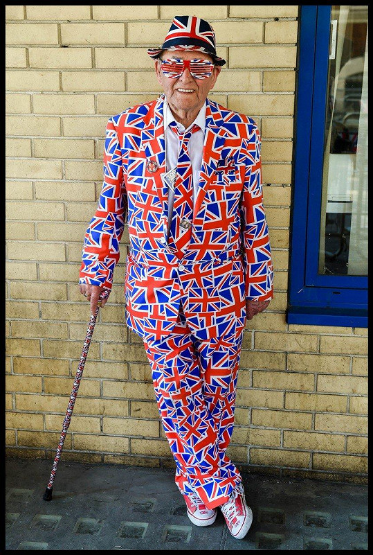 Terry Hutt aka Union Jack Man