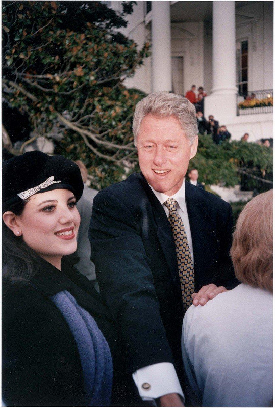 Lewinská s Clintonem v roce 1996