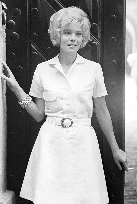 Jana Šulcová na snímku z roku 1967