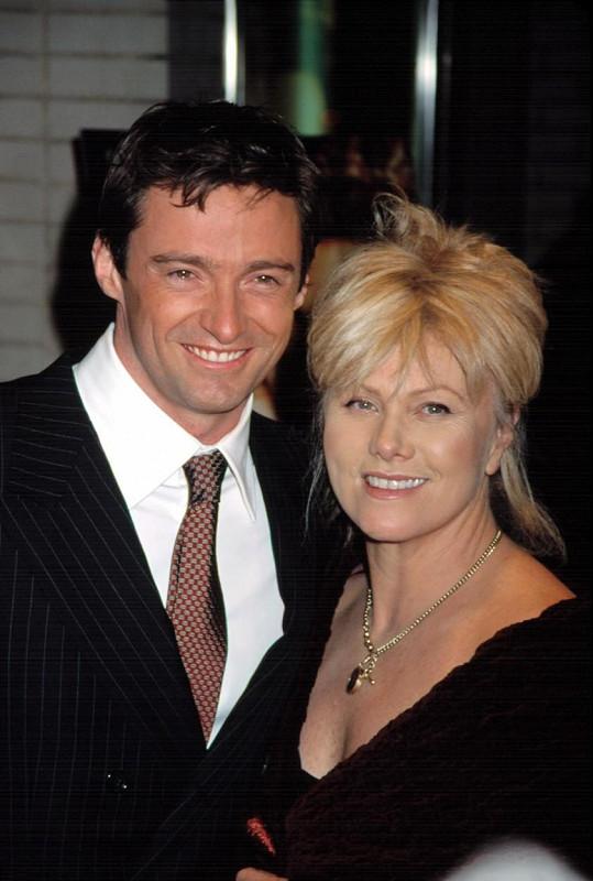 Hugh Jackman s manželkou na premiéře filmu Kate a Leopold (2001)