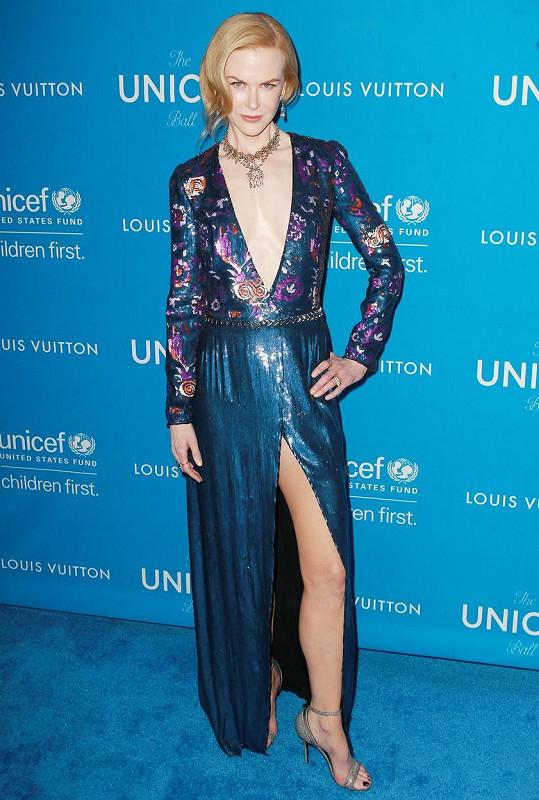 Herečka se na plese organizace UNICEF předvedla v tom nejlepším světle.