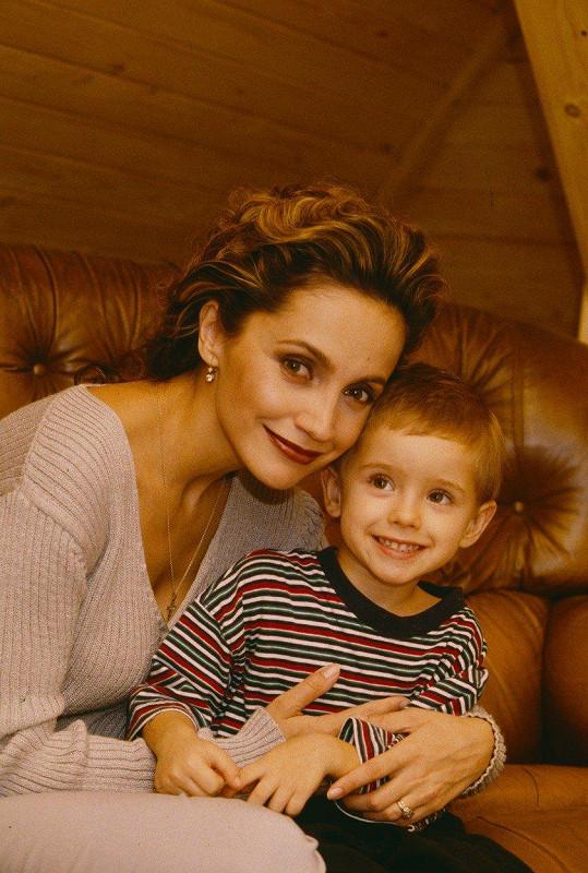 Lucie Bílá s Filipem, když mu byly dva roky.