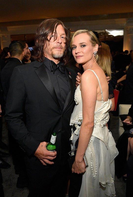 Diane Kruger s partnerem Normanem Reedusem na afterparty