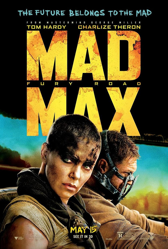 Charlize Theron a Tom Hardy na plakátu k filmu Šílený Max: Zběsilá cesta (2015)