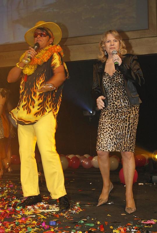 Nekonečný a Pilarová v roce 2008. Pojilo je mnohaleté přátelství. Nazpívali několik společných písní.