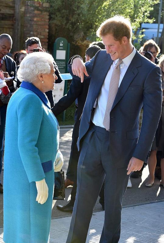 Harry s babičkou Alžbětou II.