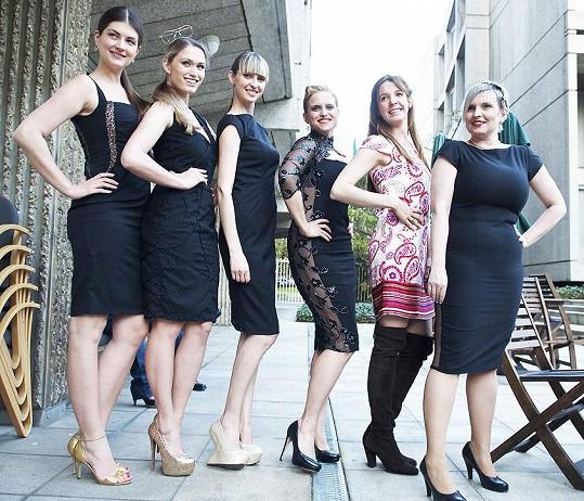 Modelky s návrhářkami Alenou Wilson a Libkou Safr a princeznou.