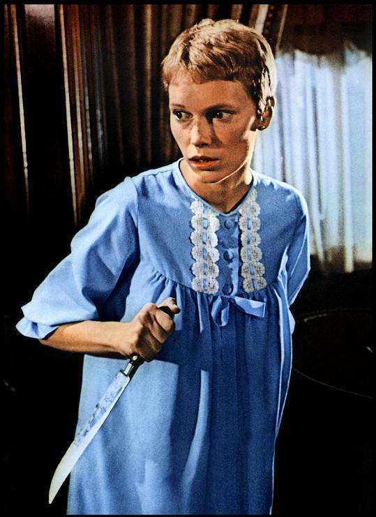 Mia Farrow ve své legendární roli ve filmu Rosemary má děťátko (1968).