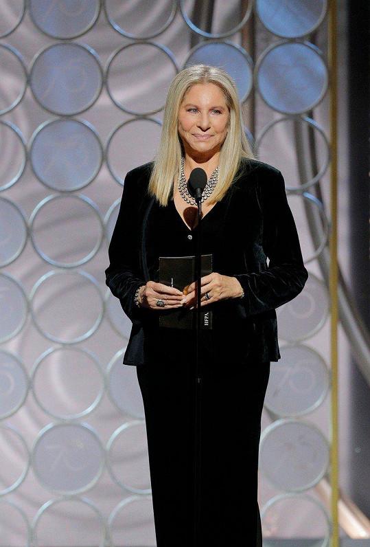 Letos Barbra vyhlásila nejlepší drama a neodpustila si kritiku.
