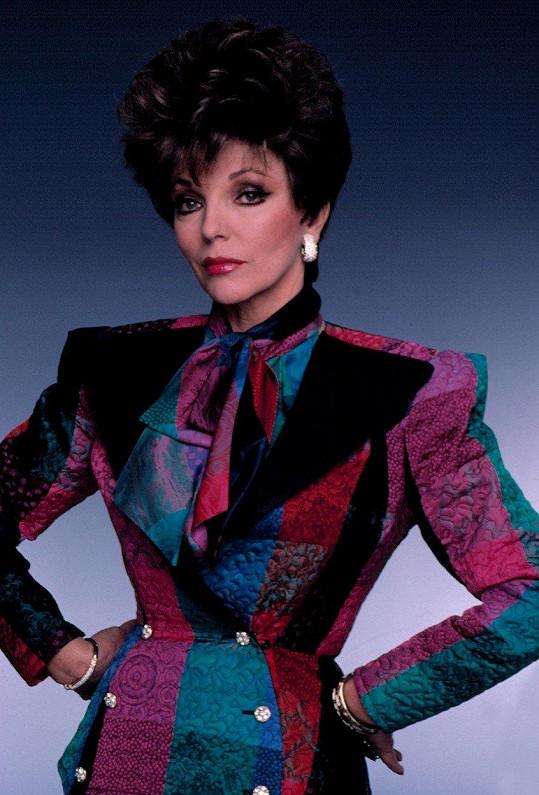 Joan Collins se v 80. letech proslavila Dynastií.