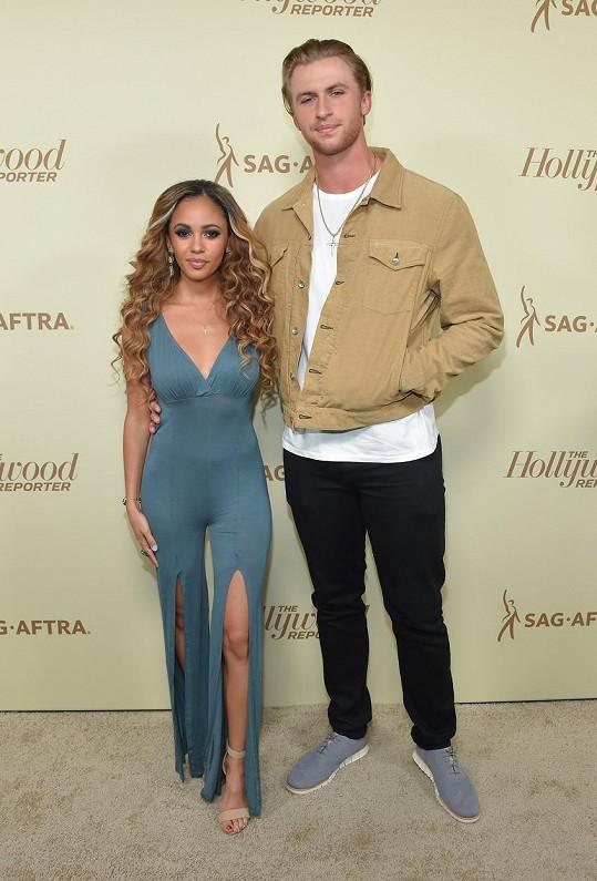 Vanessa Morgan s manželem Michaelem Kopechem.