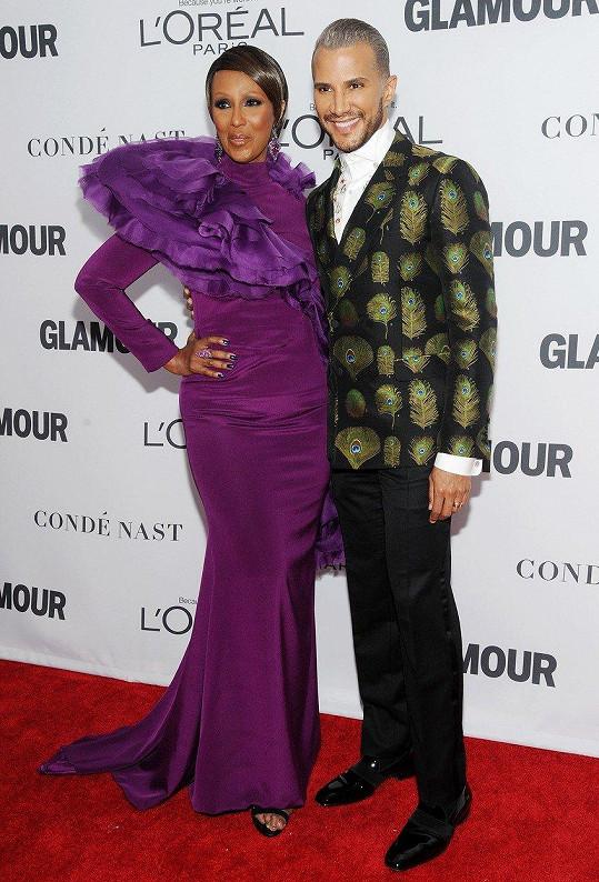 Iman dělal doprovod její kolega z reality show Amerika hledá topmodelku Jay Manuel.