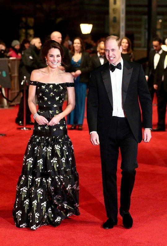 V únoru Kate a William zazářili na udílení cen BAFTA.