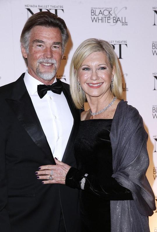 Olivia Newton-John a její manžel John Easterling