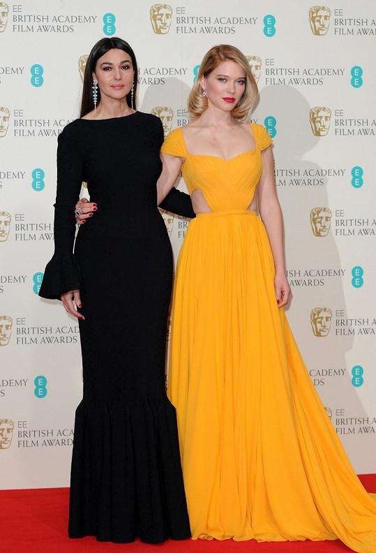 Léa s Monicou Bellucci na nedávných British Academy Film Awards