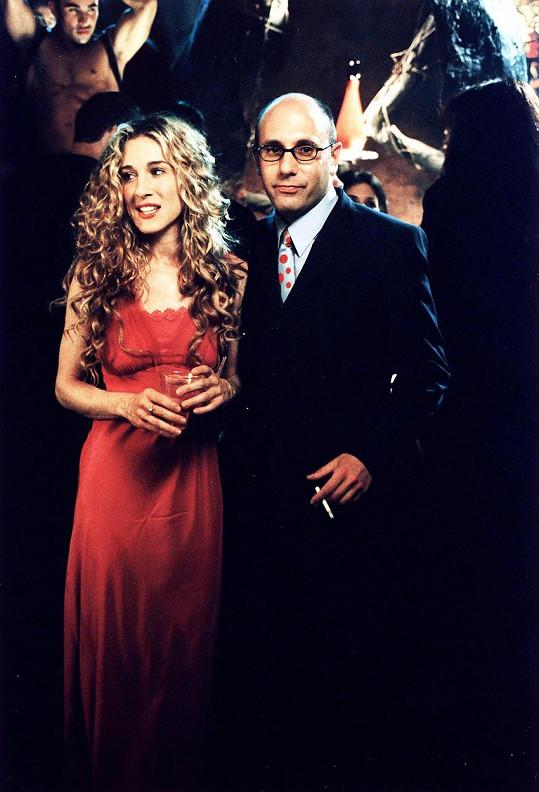 Willie Garson a Sarah Jessica Parker jako Stanford a Carrie v Sexu ve městě