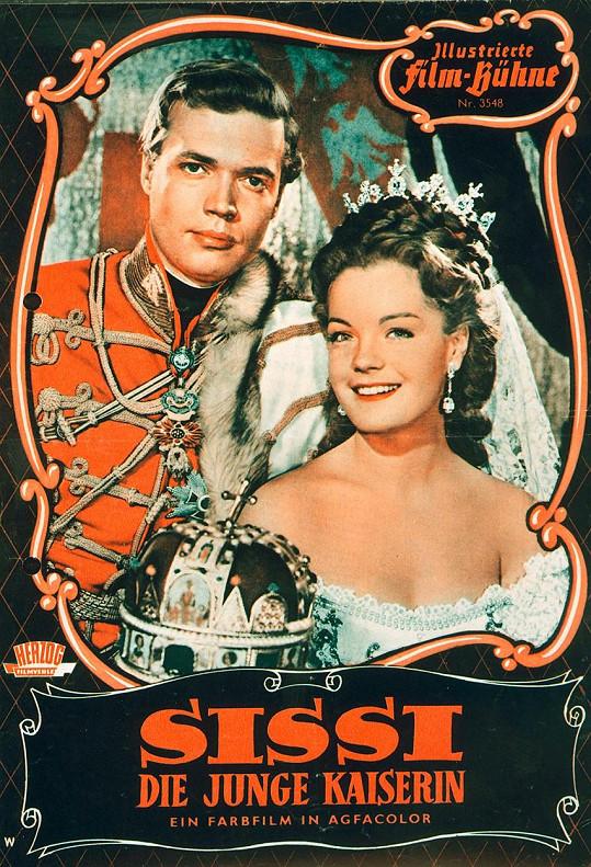 Její nejznámější filmovou představitelkou byla Romy Schneider. Na snímku s Karlheinzem Böhmem (František Josef I.) na filmovém plakátě