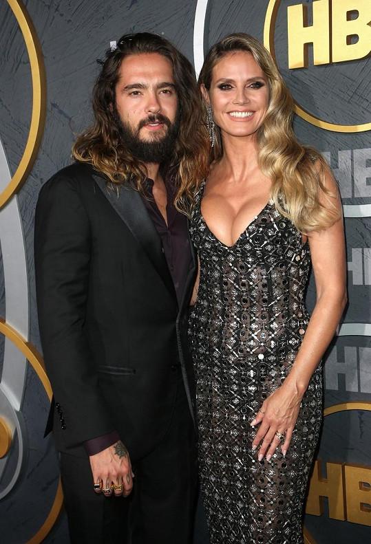 Heidi Klum s manželem Tomem Kaulitzem na after party udílení televizních cen Emmy.