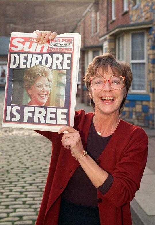 Její seriálová postava Deirdre Barlow byla v Británii velice populární.