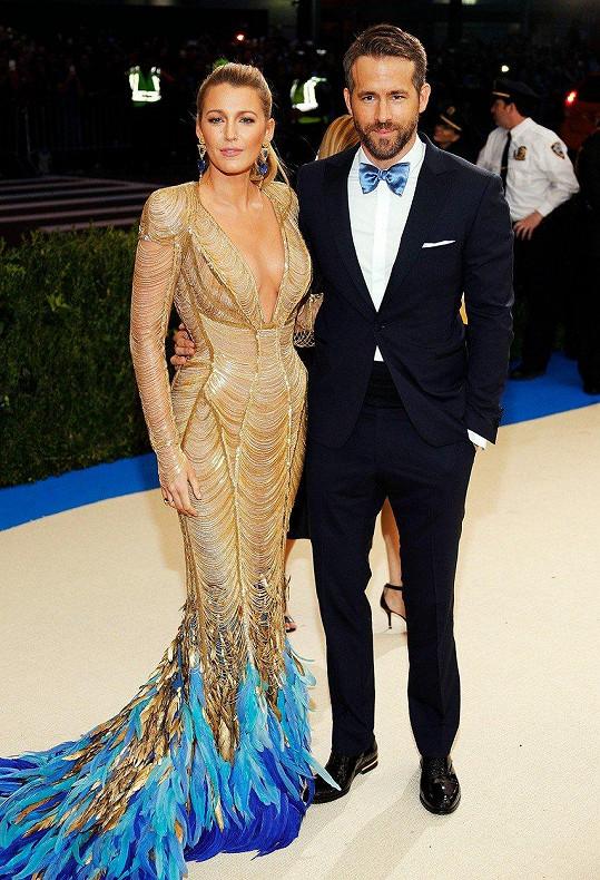 Ryan Reynolds a Blake Lively na letošním MET Gala
