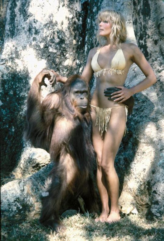 Bo Derek jako Tarzanova žena v nepříliš kladně hodnocené verzi z roku 1981.