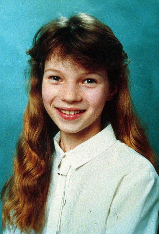 Modelku Kate Moss byste v dětství možná nepoznali.