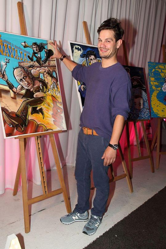 David Kraus se svým komiksovým zpodobněním