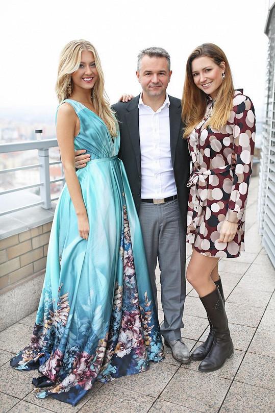 S Evou Čerešňákovou a Martinem Ditmarem, kteří ji poletí podpořit.