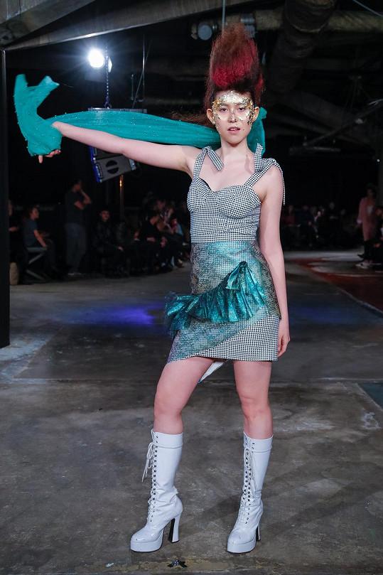 Návrhářka Dominika Kozáková si ji cíleně vybrala, aby pro ni na týdnu módy předváděla.