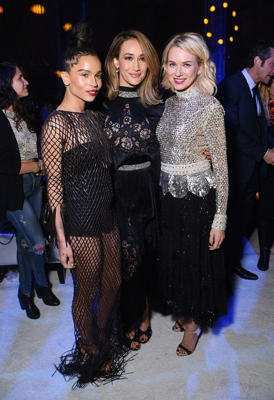 Zoe s kolegyněmi Maggie Q a Naomi Watts