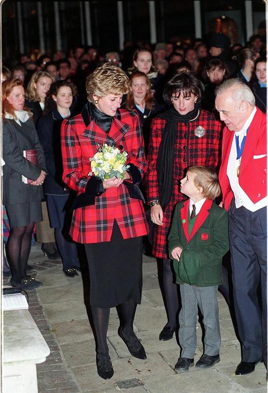 Diana s Rosou na fotografii z roku 1993....