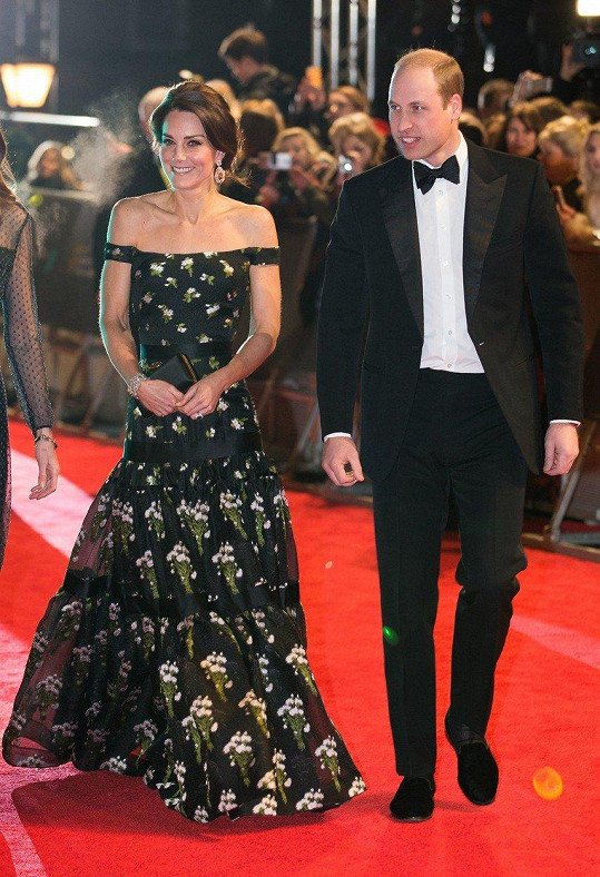 Kate a William na udílení cen BAFTA (únor 2017)