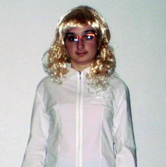 Kateřina Peclová jako anděl.