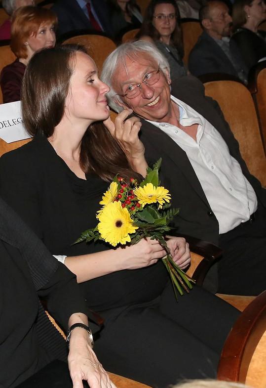 Olga Špátová s přítelem Janem Malířem