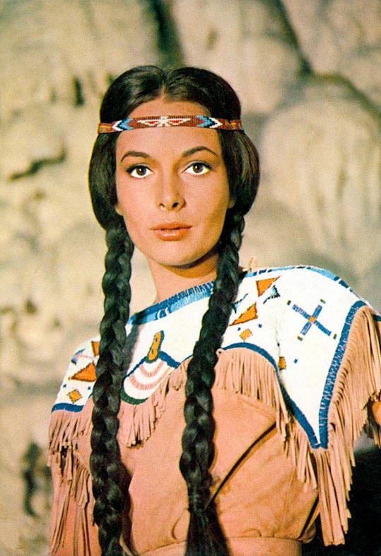 Karin Dor jako Ribana ve filmu Vinnetou - Rudý gentleman (1964)