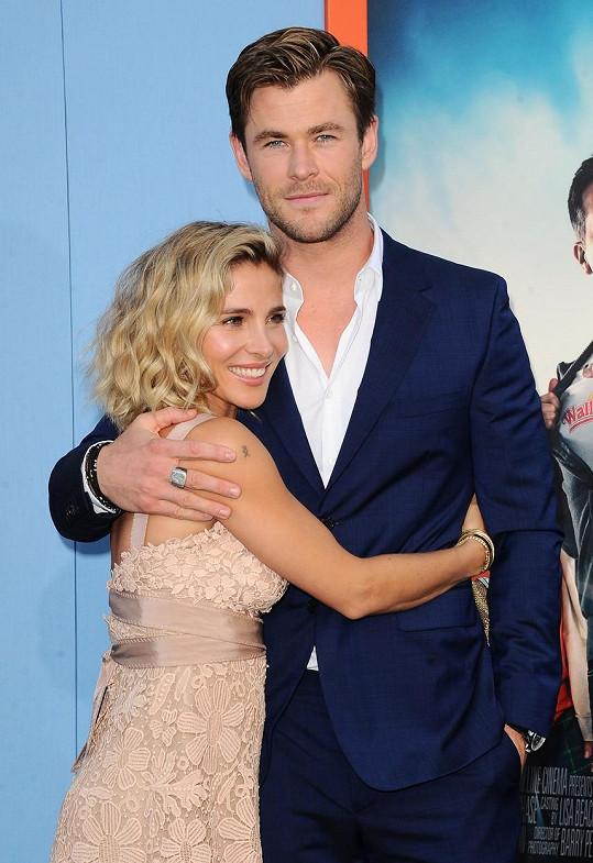 Chris Hemsworth a Elsa Pataky tvoří krásný pár.
