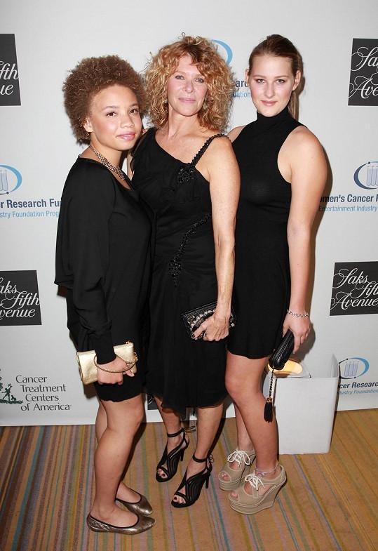 S adoptivní matkou Kate a sestrou Destry Allyn