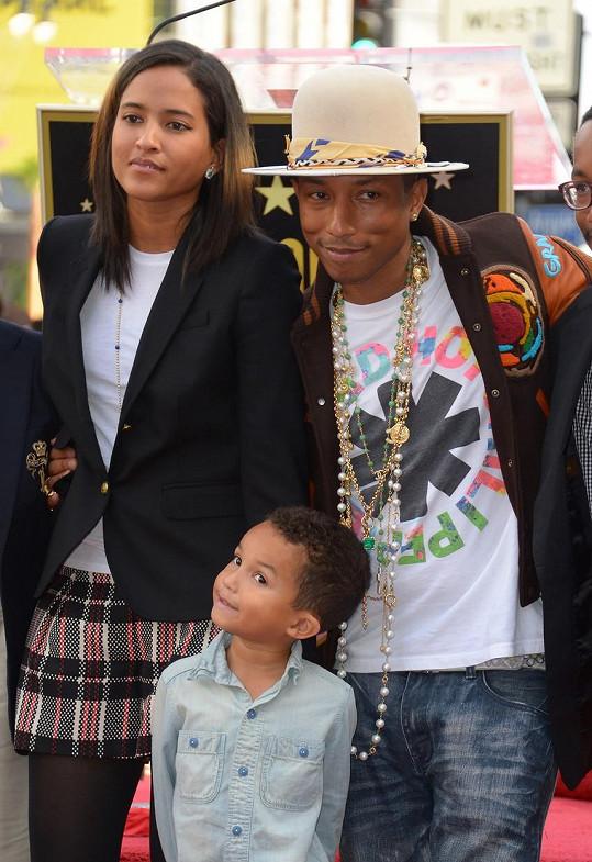 Pharell a Helen se synem Rocketem