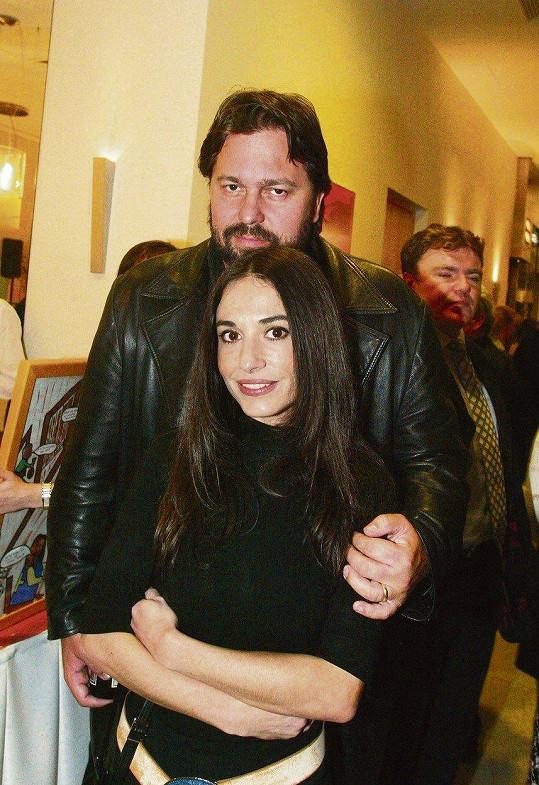 Jiří Pomeje a jeho první manželka Michaela Kuklová. Manželé byli v letech 1994-2007