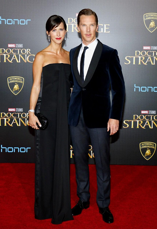 Benedict se Sophií na premiéře filmu Doctor Strange