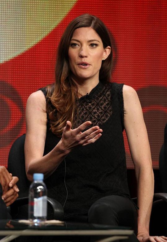 Na tiskové konferenci bylo vidět, že Jennifer Carpenter už má porod za sebou.