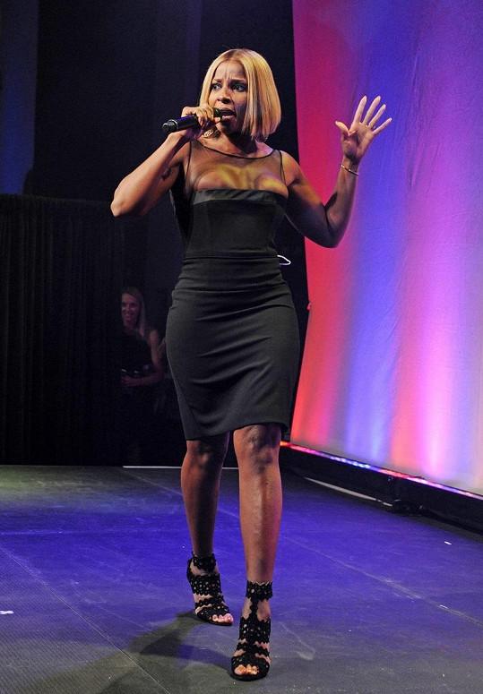 Mary J. Blige na galavečeru AmfAR