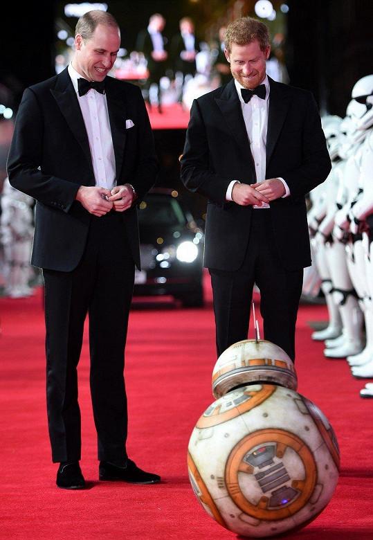 Princové jsou velkými fanoušky Hvězdných válek.