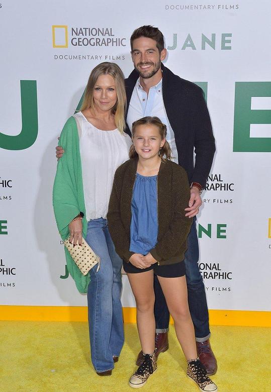 Seriálová Kelly s manželem a její dcerou Fionou
