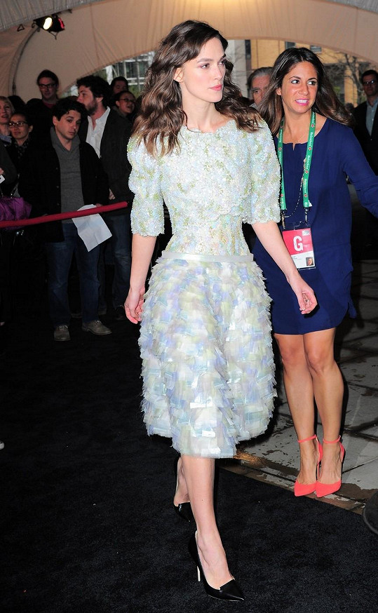 Keira Knightley na večeři uzavírající festival Tribeca